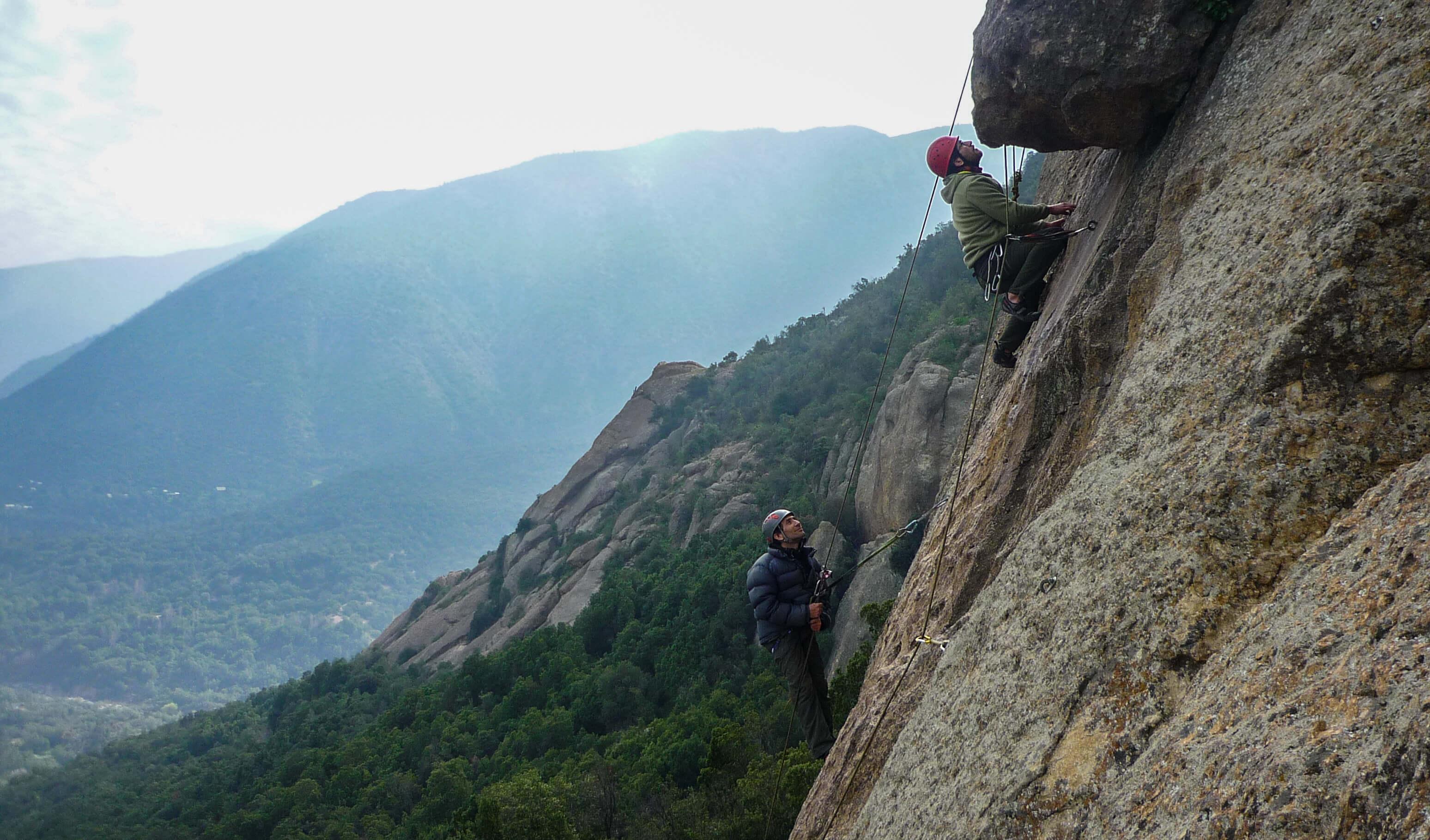 curso escalada en roca malku santiago cajon del maipo